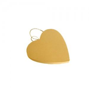 Targa cartone cuore - cm 17x16x1.5
