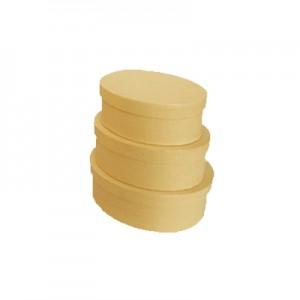 Scatola Cartone Ovale Set 3 Pz   Mis.max  cm25x20x11.5