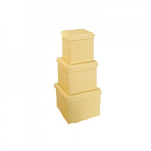 Scatola Cartone Quadrata Set 3 Pz  Mis.max  cm25x25x11.5