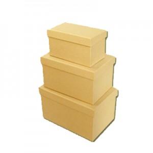 Scatola Cartone Rettangolare Set 3 Pz  Mis.max  cm25x18x11.5