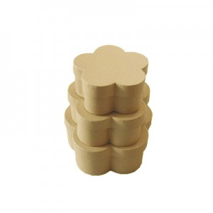 Scatola Cartone Fiore Set 3 Pz   Mis.max cm 16 x 16 x 7