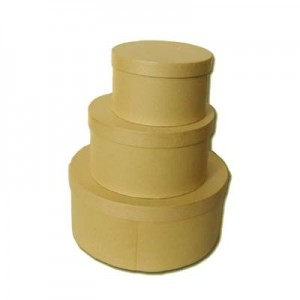 Scatola Cartone Rotonda Set 3 Pz  Mis.max cm 25.5 x 11.5