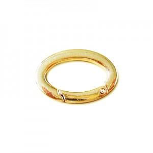 Moschettone col. Oro per borse mm 35x25x4- Busta 12 Pz