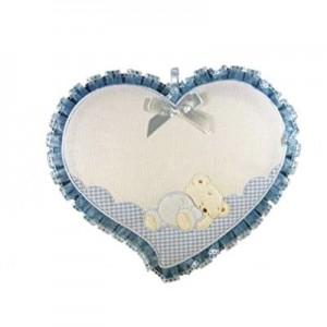 Coccarda cuore con orsetto cm 24x27