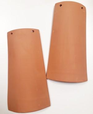 Tegola terracotta cm24x15x12 - scatola da 2pz