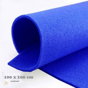 Feltro bluette mm 3 -  3 fogli da cm 100x100