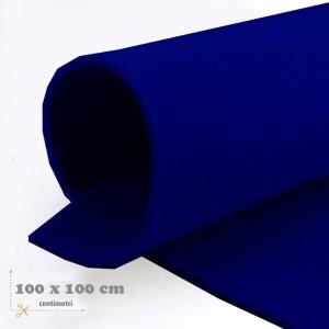 Feltro blu mm 3 -  3 fogli da cm 100x100
