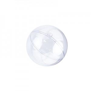 Pallina Plastica Trasp. cm 8 - Busta da 10 Pz