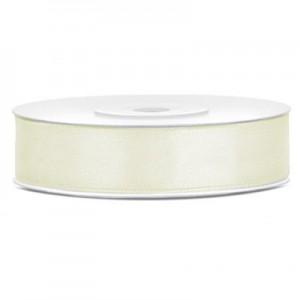 Nastro Doppio Raso Bianco Latte - 25mm - Rotolo 50mt
