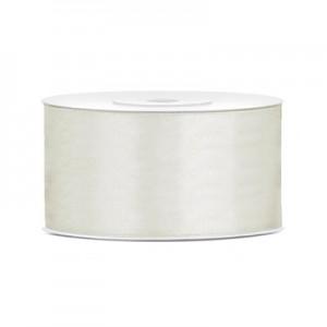 Nastro Doppio Raso Bianco Latte - 40mm - rotolo 25mt