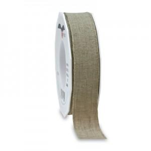 Nastro Naturale Lino mm 25 - rotolo 15mt