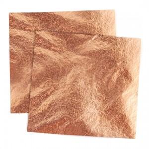 Foglia rame Libretto cm 14x14 - 25 foglietti