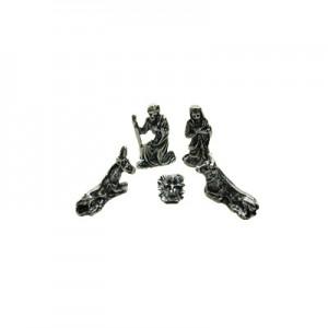 Set Presepe Natività cm 2,5 - set 5 pz metallo