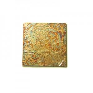 Libretto Variegato foglia oro Base Rame - cm 14 x 14 - Libretto da 24 Fogli