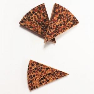 Triangoli sughero effetto graniglia 3x3,5cm spess.8mm conf. 13 pz