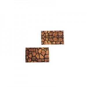 Rettangoli sughero effetto pietra 25x40mm spessore 8mm conf 8pz