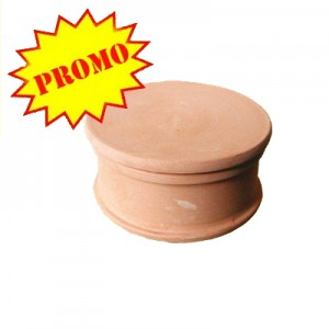 Scatola ceramica - Diam. cm 7 - H 3.5*