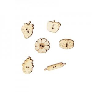 Miniature legno ... in Cucina alt. cm 2 - set 6 pz assortiti