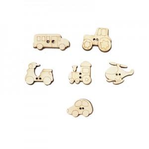Miniature legno ... si Viaggiare alt. cm 2 - set 6 pz assortiti