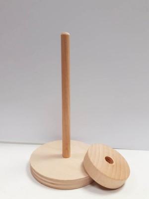 Base in legno con perno