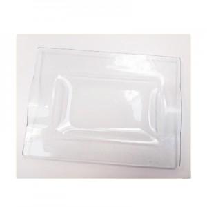 Vassoio Vetro Satinato cm 23x17 - confezione 6pz*