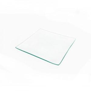 Piatto quadrato in vetro cm 25x25 - confezione da 6pz*